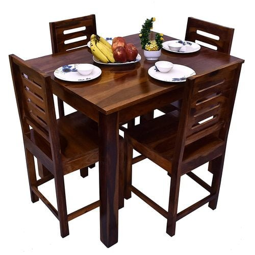 Best Wooden 4 Seater Dining Table With Chairs India 2021